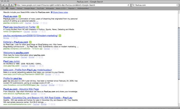 PaulLau.com Google Search