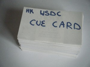Stacked Training Cue-Cards