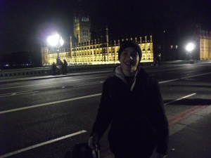 Stopping by the Houses of Parliament